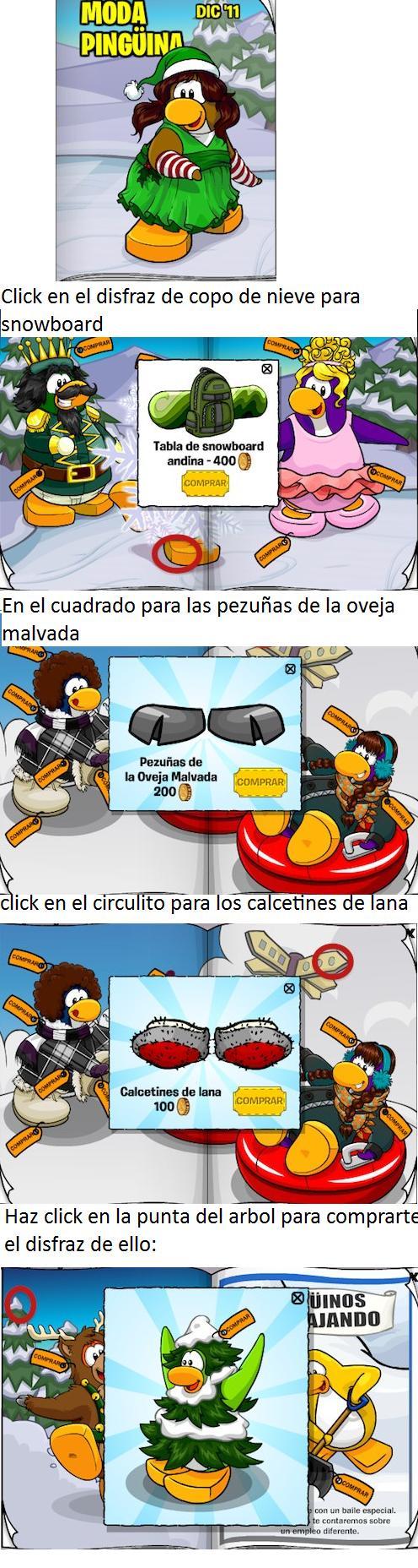 Trucos para el catalogo ''Moda Pingüina''